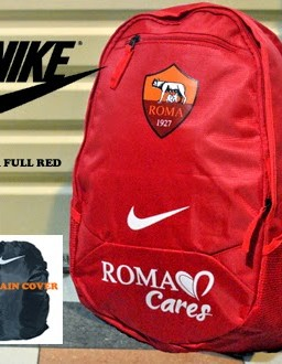 TAS RANSEL BOLA AS ROMA MERAH + RAINCOVER
