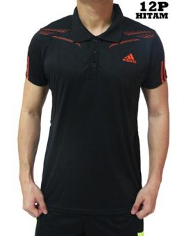Polo Shirt Adidas 12P Black