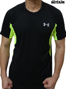 Kaos Olahraga Under Armour 203 Hitam