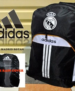 TAS RANSEL BOLA REAL MADRID ROTAN 02 + RAINCOVER