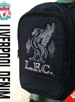 TAS RANSEL BOLA LIVERPOOL DENIM + RAINCOVER