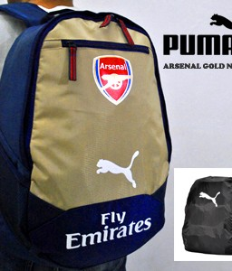 TAS RANSEL BOLA ARSENAL NAVY GOLD + RAIN COVER