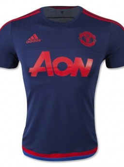 Jersey Training MU Navy 2015-2016 Terbaru