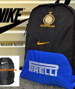 TAS RANSEL BOLA INTER MILAN LOGO BORDIR + RAINCOVER