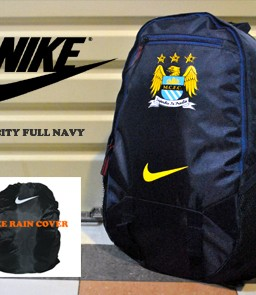 TAS RANSEL BOLA MANCHESTER CITY NAVY + RAINCOVER