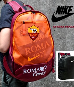 TAS RANSEL BOLA AS ROMA GRADASI + RAINCOVER