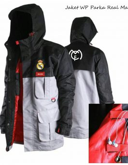 Jaket Waterproof Parka Real Madrid